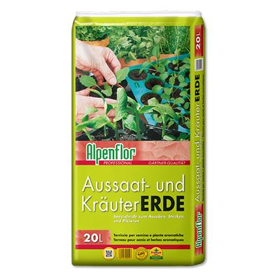 Alpenflor Aussaat- und Kräutererde Beitragsbild