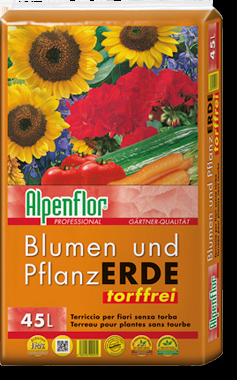 Alpenflor Blumen- und Pflanzerde torffrei