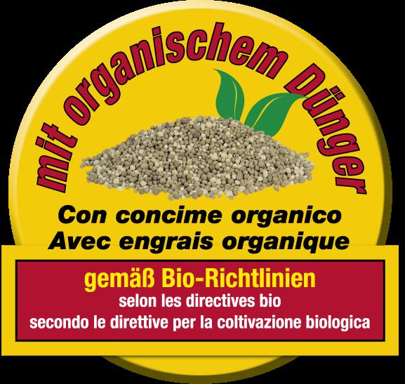 Alpenflor Siegel mit organischem Dünger